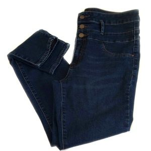 Refuge High Waisted Skinny Blue Jeans